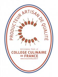 Producteur Artisan de Qualité par le Collège Culinaire de France