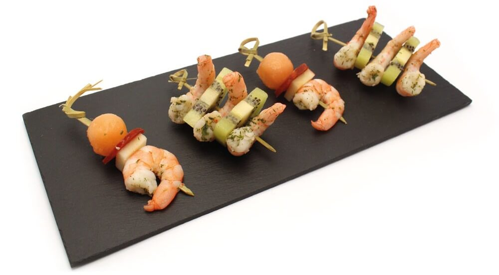 Brochettes apéritives salées - Melon Charentais