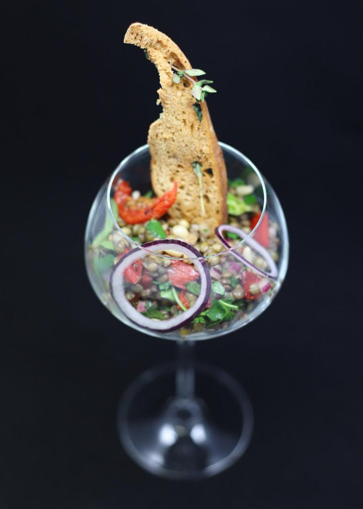 Salade de lentilles du Puy à l'orientale par Rachid Souid