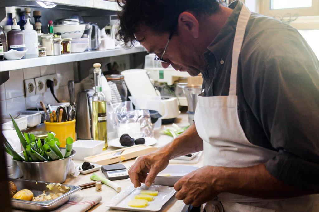 Patrick Duler en cuisine