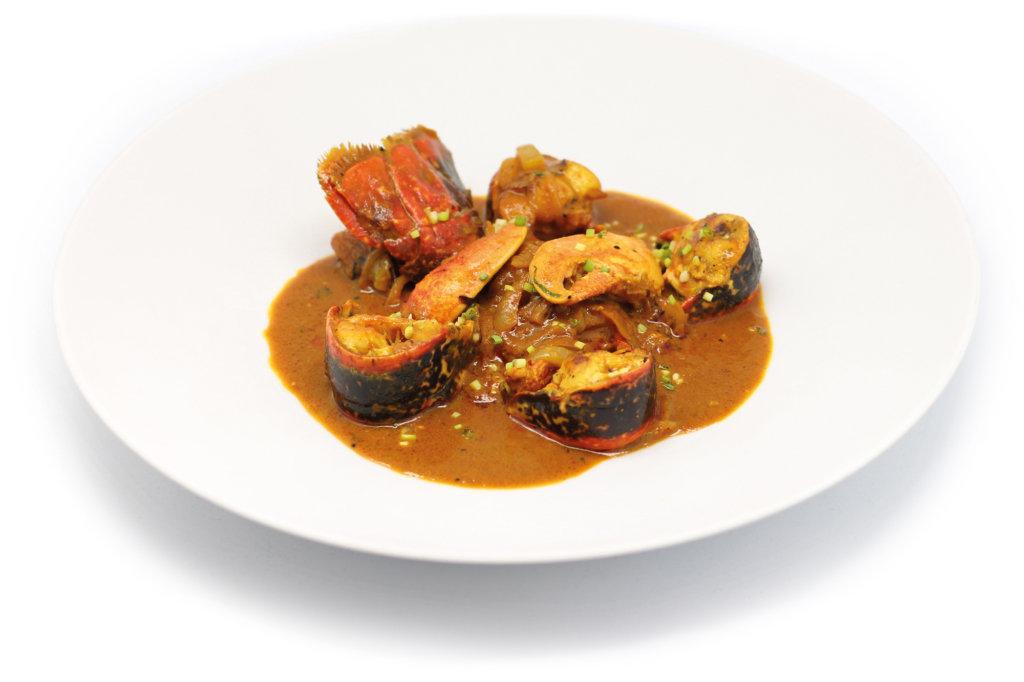 "Homard de Bretagne sauce Somboom par Sébastien Carmona Porto - Restaurant ""Helen"" Paris 8e"