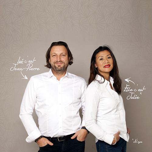 Jean-Piette et Julie, créateurs de la gamme N'OYE