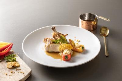 Poulet croustillant au four et son jus de poulet Bonemasters